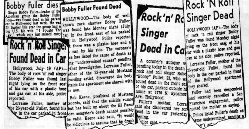 Bobby Fuller death