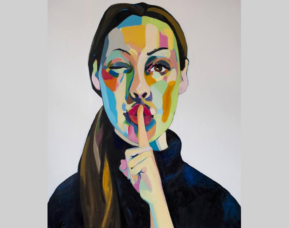 """Art Print, """"Mute,"""" by Emma Tingård."""